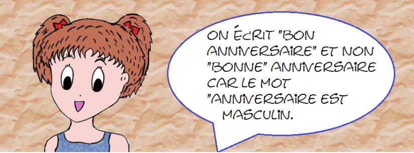bon anniversaire orthographe